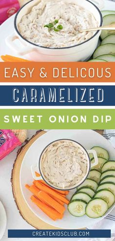 A sweet onion dip that's packed with flavor from caramelized Vidalia onions, Greek yogurt, cream cheese, Worcestershire sauce and spices. Use as a dip with vegetables or crackers. Gluten-free. Good Healthy Recipes, Lunch Recipes, Healthy Snacks, Dinner Recipes, Onion Dip, Vidalia Onions, Convenience Food, Learn To Cook, Budget Meals