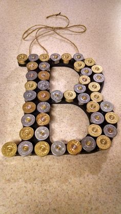 Shotgun Shell Letter Personalized by SouthernHomeArt on Etsy