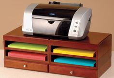 Underneath your printer is a great place to store paper.
