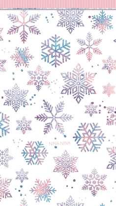 Watercolor Snowflakes Digital Papers, Blush and Blue Seamless Patterns, Glitter Snow Winter, Snowflake Wallpaper, Christmas Phone Wallpaper, Snowflake Background, Holiday Wallpaper, Christmas Background, Winter Iphone Wallpaper, Christmas Phone Backgrounds, Cute Wallpapers, Wallpaper Backgrounds