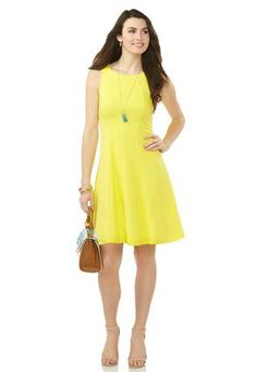 Cato Fashions Textured Fit and Flare Dress-Plus Petite #CatoFashions