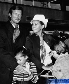 Roger Moore with his wife Luisa and their children Deborah and Geoffrey in 1971