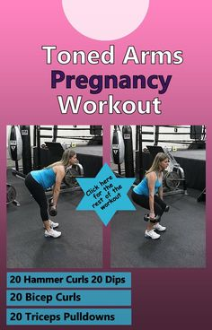 Your arms don't have to get flabby and big during pregnancy,  try this workout that will help you have toned and slim arms throughout your pregnancy and there are tons of pregnancy diet tips here too. http://michellemariefit.publishpath.com/toned-arms-pregnancy-workout