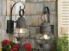 Old Fashioned Lantern Lights To Perfect A Cottage Or Farmhouse Decor - traditional - outdoor lighting - philadelphia - HomeThangs Cottage Lighting, Porch Lighting, Farmhouse Lighting, Exterior Lighting, Outdoor Lighting, Lighting Ideas, Outdoor Lamps, Lantern Lighting, Primitive Lighting