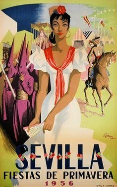 Resultado de imagen de CARTEL  TOROS 1956 EN SEVILLA