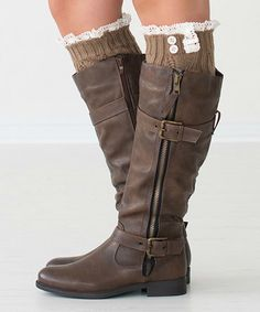 Light Brown Lilly Leg Warmers