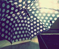 White polka dots, just perfect.