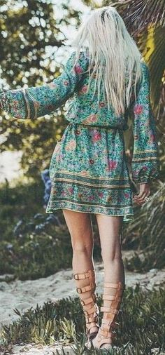 #spellandthegypsycollective #boho #outfits | Folk Printed Maxi Boho Dress