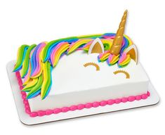 Celebrate a special occasion with these beautiful and magical Unicorn Creations cake.