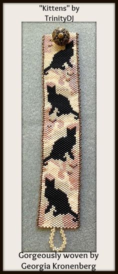 BPAN021 Kittens Odd Count Peyote Stitch One of a by TrinityDJ