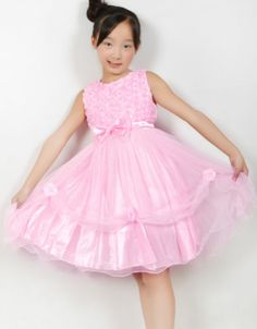 New Girls Dress Pink Wedding Pageant Rose Bridesmaid Child Clothes Size 2-10