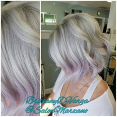 Silver and lilac hair #wellat18 #paulmitchellthecolorxg #hair #hairtrends #platinum