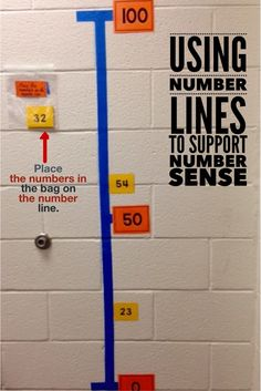 Use number lines to support number sense.  Make a number with painter's tape and use 0, 50 and 100 as benchmarks.