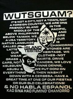 Guam--If you don't know now you know Guam Tattoo, Guam Flag, Guam Recipes, Chamorro Recipes, Quotes About Everything, Island Food, Island Girl, How To Speak Spanish, Lol
