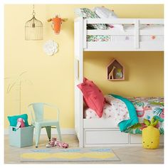 Create a hideaway high up for a piece of paradise that's totally yours. The Tropical Treehouse Collection from Pillowfort brings kids summer-inspired play all day. Bold color pops paired with warm neutrals make this kids' bedroom collection a fun look for a boy or a girl. Fun accents, smart storage, and cuddly bedding make this a choice to treasure.