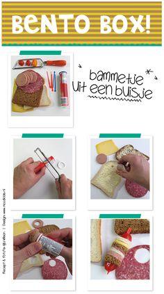 #bento zonder rijst, bento bammetjes, stapelbrood uit een buisje recept op www.moodkids.nl