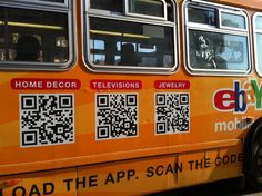 Load the app. Scan the code. Oh, and did we mention run alongside the bus? Qr Codes, How To Run Faster, Mobile Application, Coding, Marketing, Words, 2d, Ebay, Horse