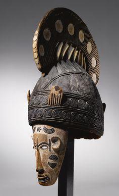 Africa | Ibo Maiden Spirit Mask, Nigeria.