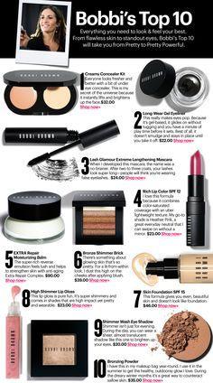Bobbi Brown Top 10 -I LOVE Bobbi Brown!!! Eye Makeup, Makeup Tips, Beauty Makeup, Hair Beauty, Makeup Ideas, Makeup Contouring, Fairy Makeup, Drugstore Beauty, Makeup Tutorials