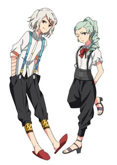 Nona from Death Parade and Juuzo from Tokyo Ghoul