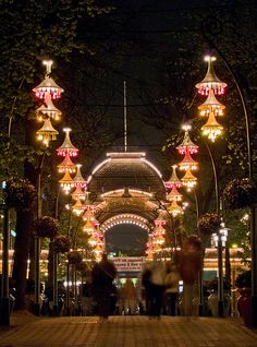 Tivoli Gardens, Copenhagen... A magical place at night!