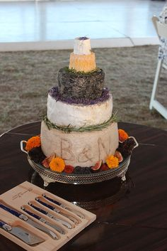When a Cake is not a Cake! Cheese stack. #countryweddings #wedding #cheese #eyg2015