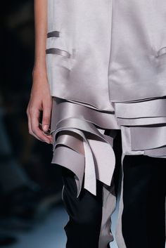 Jacket with choppy layered panels; fashion details // Haider Ackermann Spring 2015