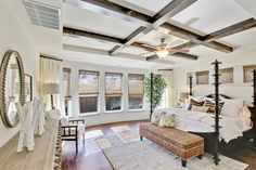 Luxurious master bedroom in Bordeaux at Lake Highlands