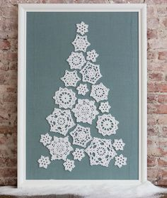 Tree of Snowflakes, amazing, thanks so xox ☆ ★ https://www.pinterest.com/peacefuldoves/