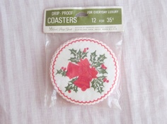 Vintage Christmas Bells and Holly Christmas Coasters, $2.99