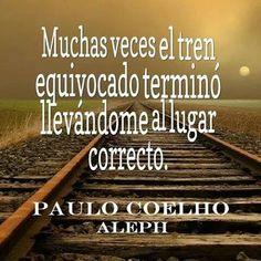 Muchas veces el tren equivocado terminó llevándome al lugar correcto. Frases de éxito y motivación. Los errores no siempre son fracaso, sino pasos importantes en el camino a tus metas.