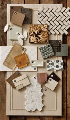 Stunning color combinations, and textures for kitchen tiles. Can't wait for an apartment to DIY and use these in.