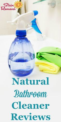Here is a round up of natural bathroom cleaner reviews to help you keep this room clean in an eco-friendly way. Find out which ones work best, or share your own opinions {on Stain Removal 101} #NaturalBathroomCleaner #GreenBathroomCleaner #NaturalCleaners Toilet Cleaning, Bathroom Cleaning, Car Cleaning, Spring Cleaning, Cleaning Hacks, Green Cleaning, Diy Cleaners, Carpet Cleaners, Natural Bathroom Cleaner
