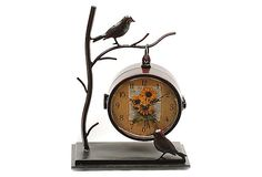 Hanging Branch Table Clock
