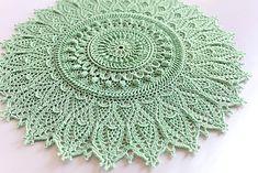 Ravelry: mixnuts' Momentous Occasion Mint green crochet doily PKCrochet.com