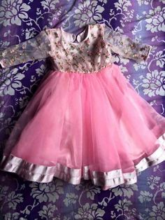 Fashion Kids Girl Dress Pink Ideas For 2020 Kids Dress Wear, Kids Gown, Dresses Kids Girl, Girl Outfits, Kids Wear, Baby Girl Dress Patterns, Baby Dress Design, Frock Design, Trendy Baby Girl Clothes