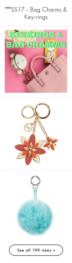 """""""***SS17 - Bag Charms & Key-rings"""" by foolsuk ❤ liked on Polyvore featuring house of fraser, accessories, aspinal of london, heart shaped key chains, engraved key ring, heart key ring, key chain rings, heart shaped key ring, leather key ring and shell pink"""