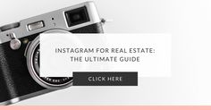 """Did you know that agents can generate leads, sales, and referrals from Instagram? In this post, I'll show you how to master Instagram for real estate.  We're huge proponents of Instagram here at Honey Bar Media. And for good reason...  With over 500 million users and 4.2 billion """"likes"""" per month, Instagram is one of the best"""