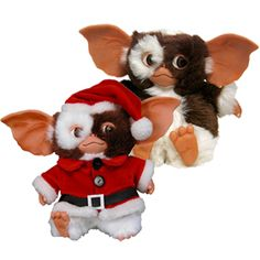 """Gizmo is the perfect companion for your desk, car and window (if not in direct sunlight). This cute and cuddly Mogwai needs a home today. Available as 6"""" Traditional Gizmo or 6"""" Christmas Gizmo!  #Gizmo #Mogwai #Gremlin #Gremlins #thegremlins #christmasgizmo #santagizmo #christmasgifts #retrochristmasgifts #cutechristmasgifts #funnychristmasgifts"""