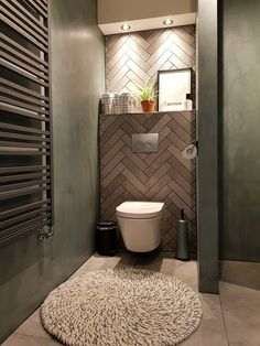 Modern Toilet, Small Toilet, Bathroom Design Luxury, Modern Bathroom Design, Luxury Toilet, Modern Sliding Doors, Bathroom Design Inspiration, Tadelakt, Smart Home Technology