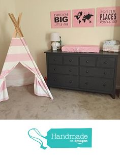 Kids teepee play tent Pink and White stripes from TinyTeepees http://www.amazon.com/dp/B0186T8CS8/ref=hnd_sw_r_pi_dp_tCEixb1M3YSXY #handmadeatamazon