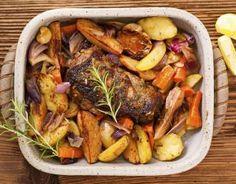 Recette - Rôti d'agneau au romarin et ses légumes   750g