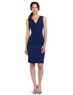 BCBGMAXAZRIA Women's Alysse Pleated V-Neck Sheath Dress, Blue Depth, $113vBCBGMAXAZRIA,http://www.amazon.com/dp/B008A4PJSG/ref=cm_sw_r_pi_dp_FJ7Sqb0BNZP9FMBZ