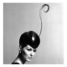 Pillbox Hat with Feather, 1960s Giclee Print