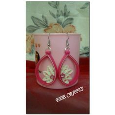 Quilled earrings -Jewellery-EEE Crafts Lseries