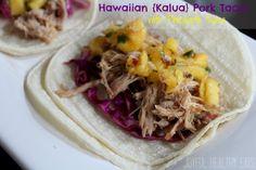 Hawaiian Kalua Pork Tacos with Pineapple Salsa - Hawaiian Recipes