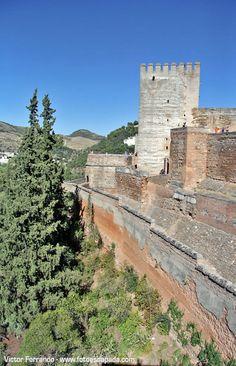 Torres de la Alcazaba de la Alhambra, Granada  Spain