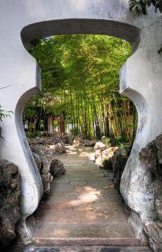 An entrance to Yuyuan Gardens.