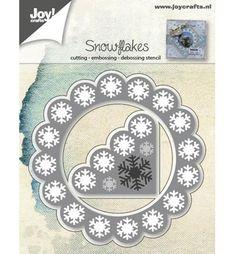 Joy!Crafts mallen 6002/0547 Sneeuwvlokken hoek ach