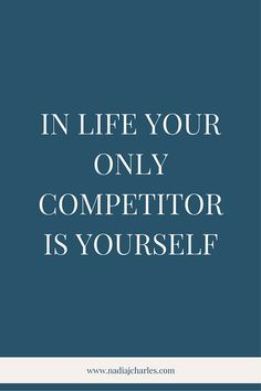 In Life, Your Only Competitor is Yourself | Nadia J Charles | Clinical Hypnotherapist & Life Coach